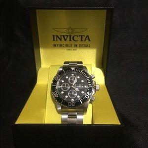 Black invicta chronograph